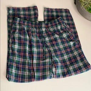 Croft & Barrow Large Plaid Drawstring Pajamas